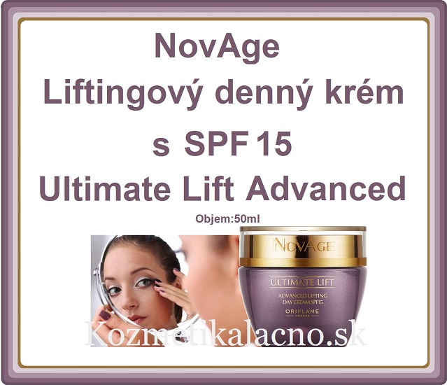 Liftingový denný krém s SPF 15 NovAge Ultimate Lift Advanced
