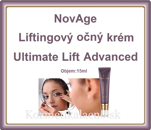 Liftingový očný krém NovAge Ultimate Lift Advanced