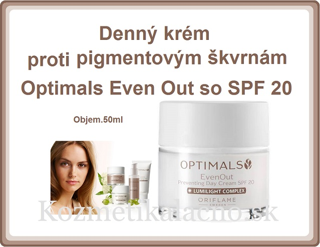 Denný krém proti pigmentovým škvrnám Optimals Even Out so SPF 20