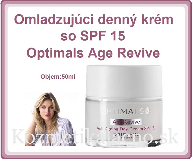 Omladzujúci denný krém so SPF 15 Optimals Age Revive