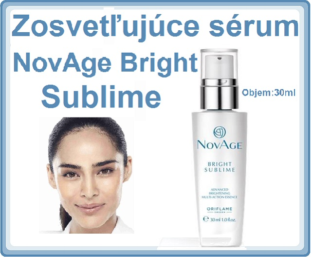 Zosvetľujúce sérum NovAge Bright Sublime