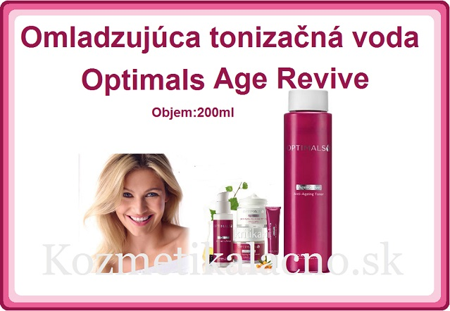 Omladzujúca tonizačná voda Optimals Age Revive