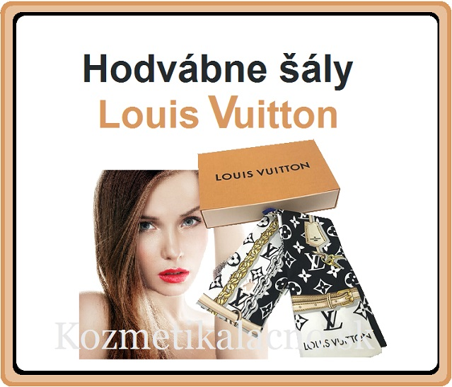 Dámsky hodvábny šál Louis Vuitton