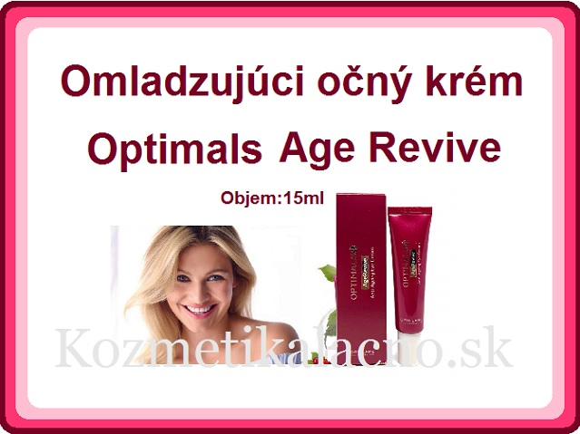 Omladzujúci očný krém Optimals Age Revive