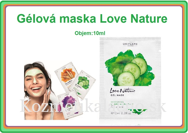 Gélová maska Love Nature