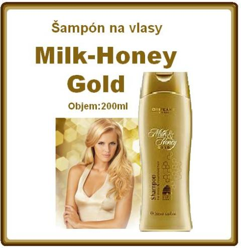 Šampón na vlasy Milk & Honey Gold.