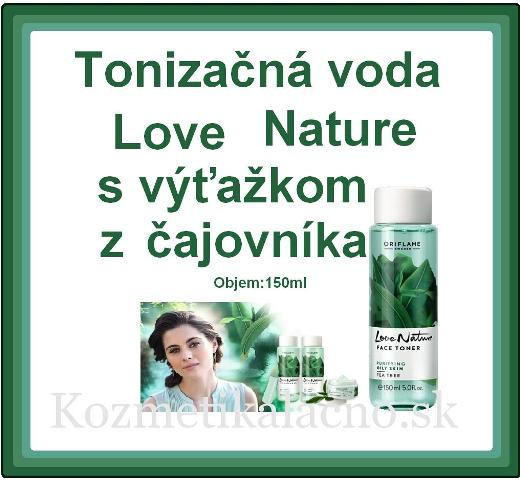 Tonizačná voda Love Nature